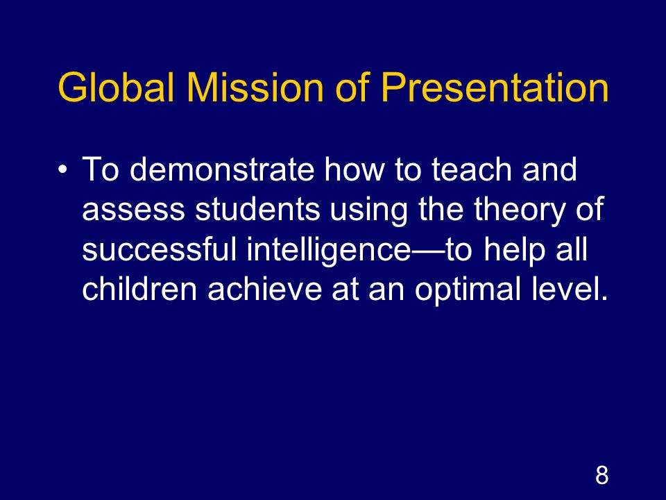 Global Mission of Presentation