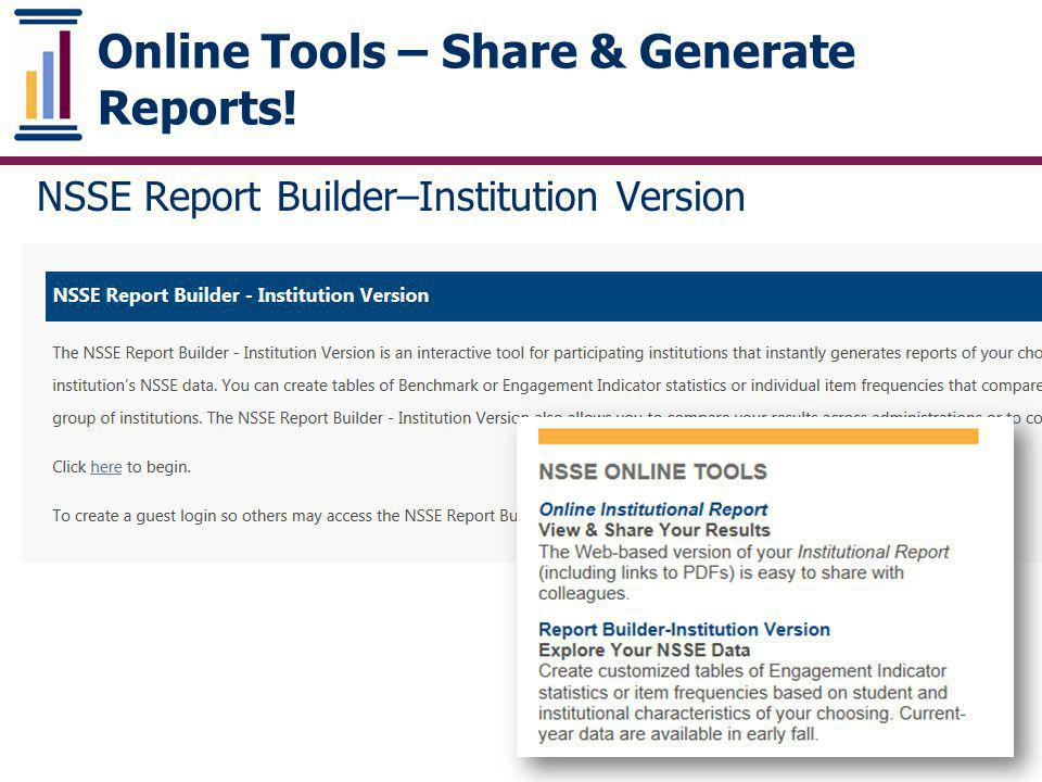 Online Tools – Share & Generate Reports!