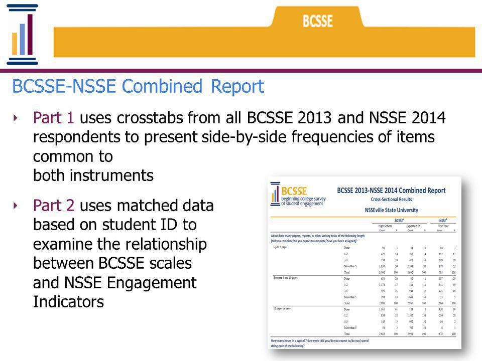 BCSSE-NSSE Combined Report