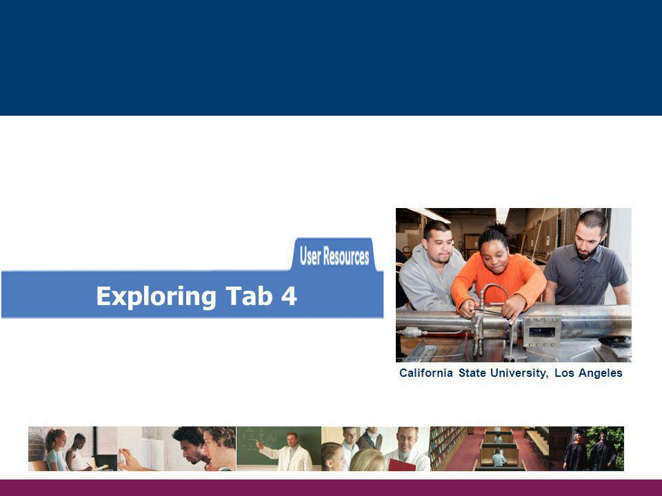 Exploring Tab 4 California State University, Los Angeles