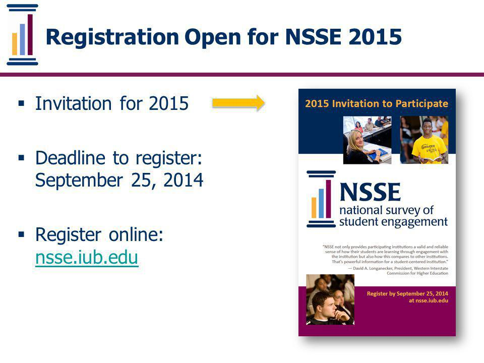 Registration Open for NSSE 2015