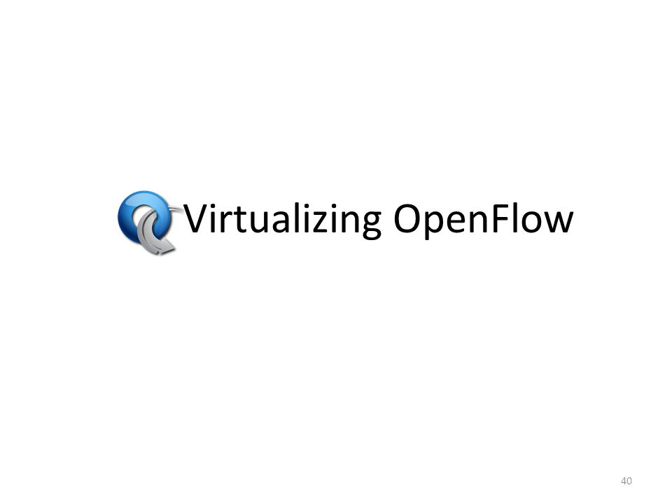 Virtualizing OpenFlow