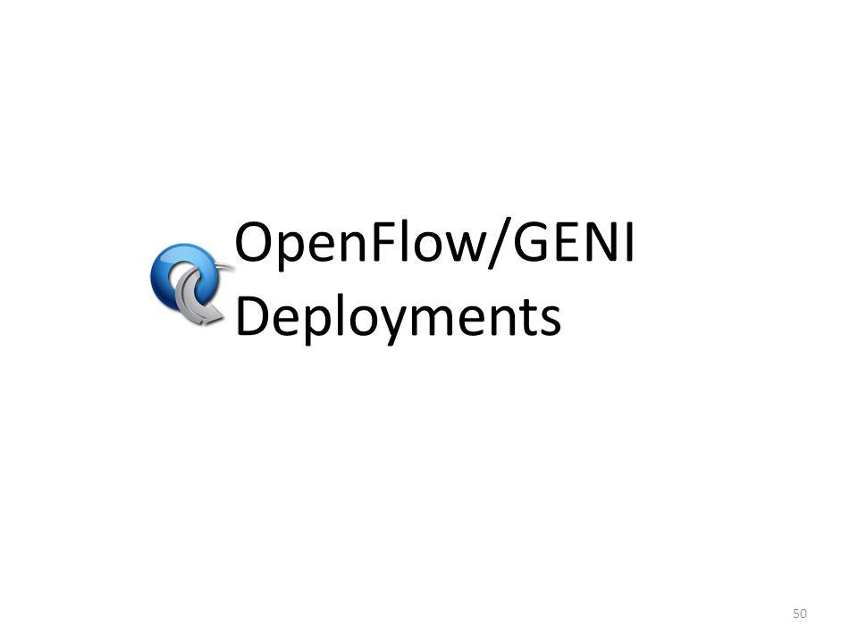 OpenFlow/GENI Deployments