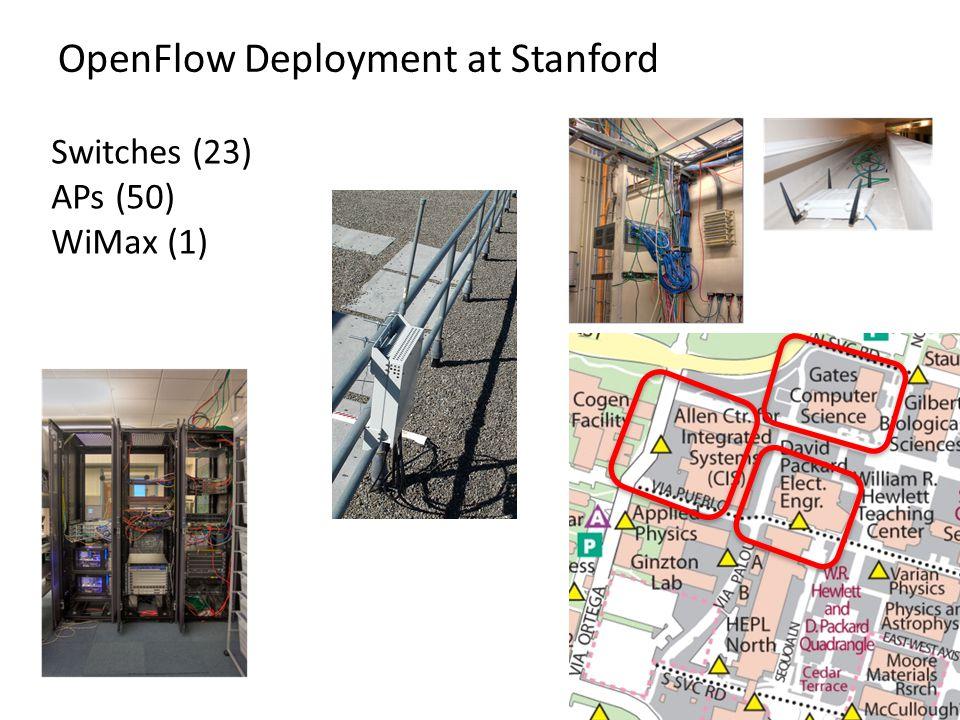 OpenFlow Deployment at Stanford