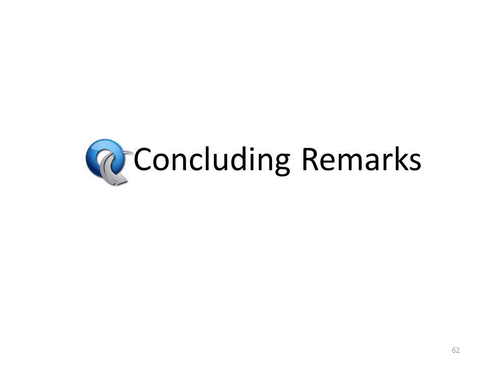 Concluding Remarks 62