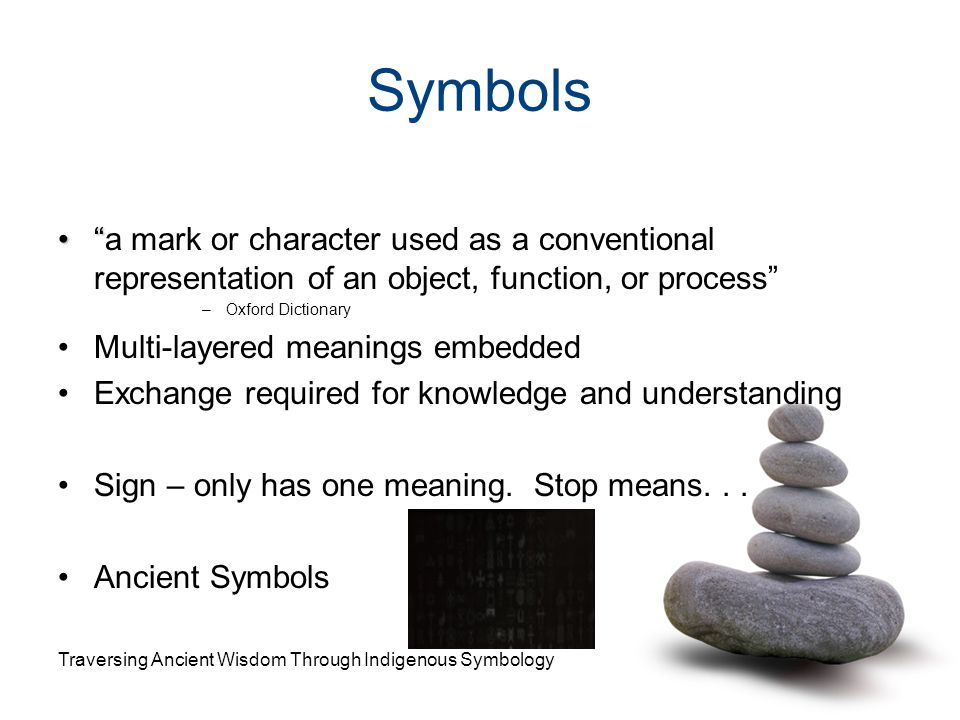 Symbols a mark or character used as a conventional representation of an object, function, or process