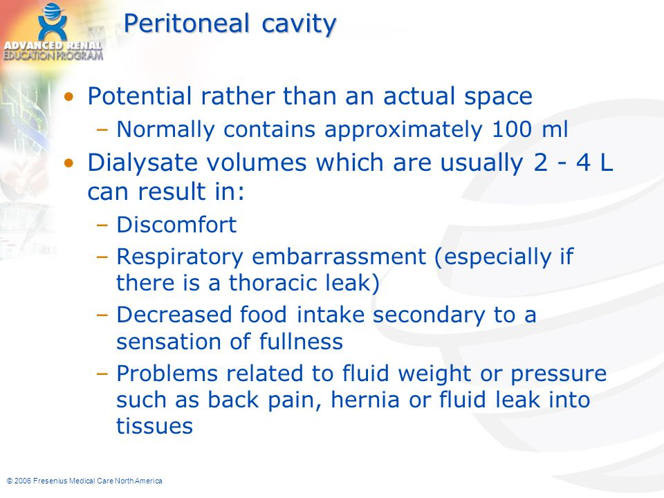 Peritoneal cavity Potential rather than an actual space