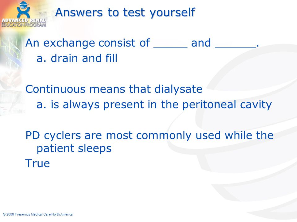 Answers to test yourself