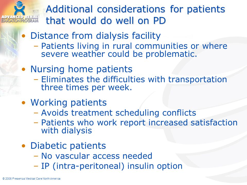 Additional considerations for patients that would do well on PD