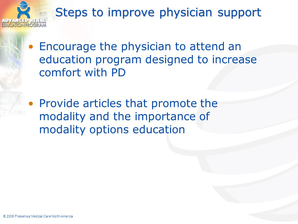 Steps to improve physician support