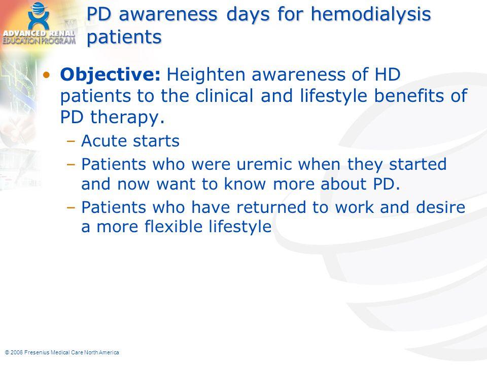 PD awareness days for hemodialysis patients