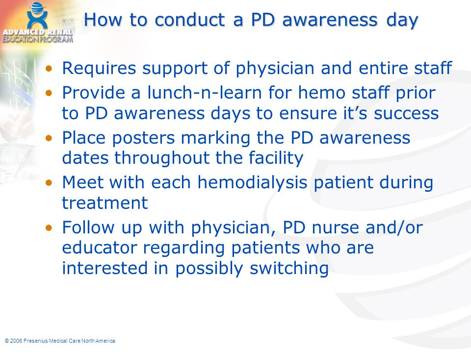 How to conduct a PD awareness day