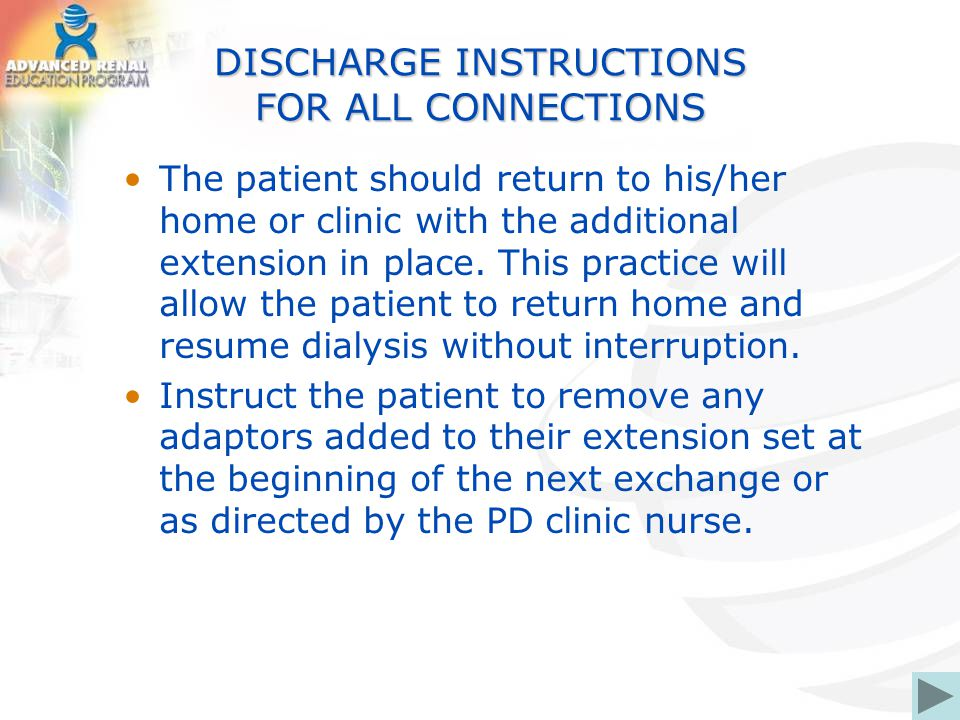 DISCHARGE INSTRUCTIONS FOR ALL CONNECTIONS