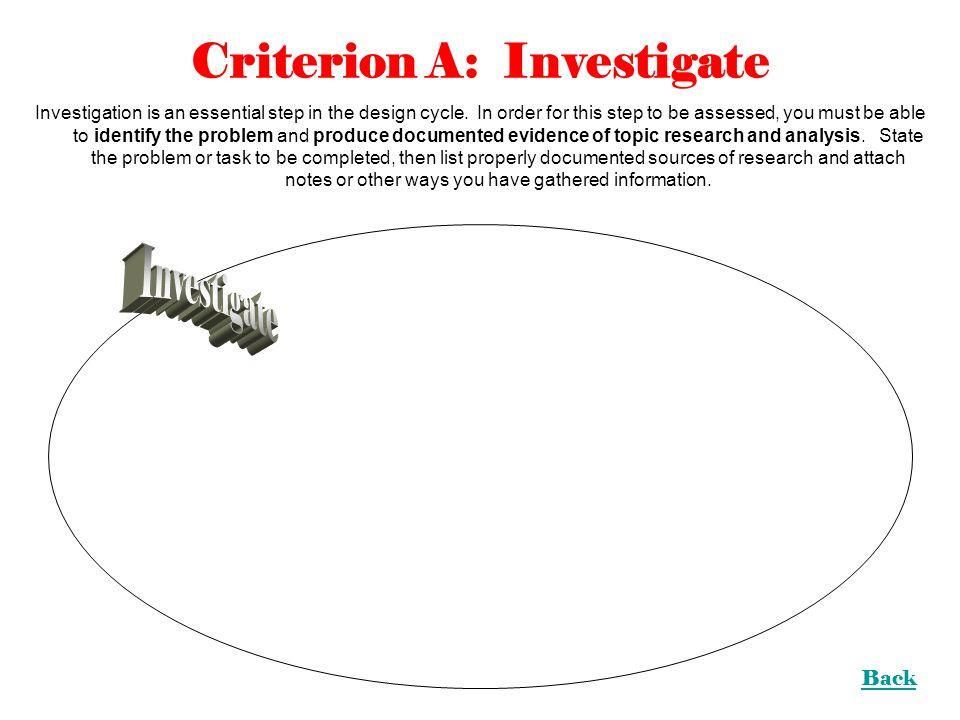 Criterion A: Investigate