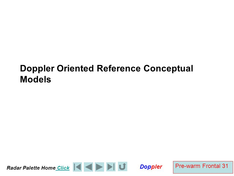 Doppler Oriented Reference Conceptual Models