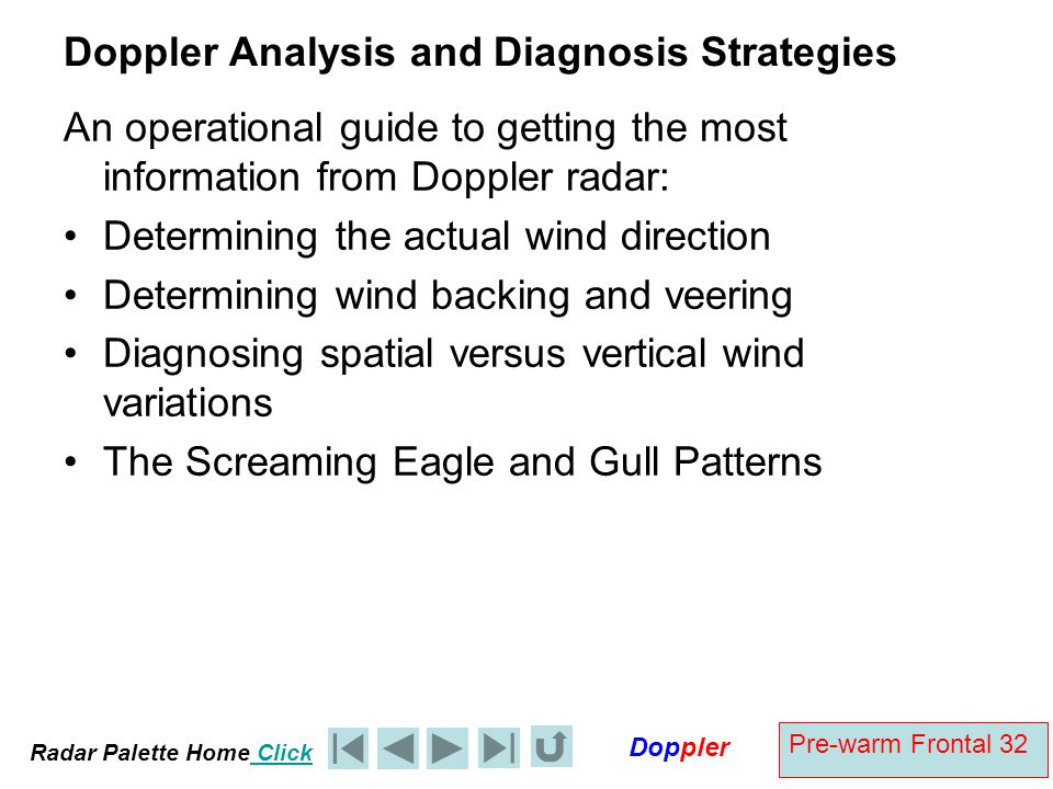 Doppler Analysis and Diagnosis Strategies