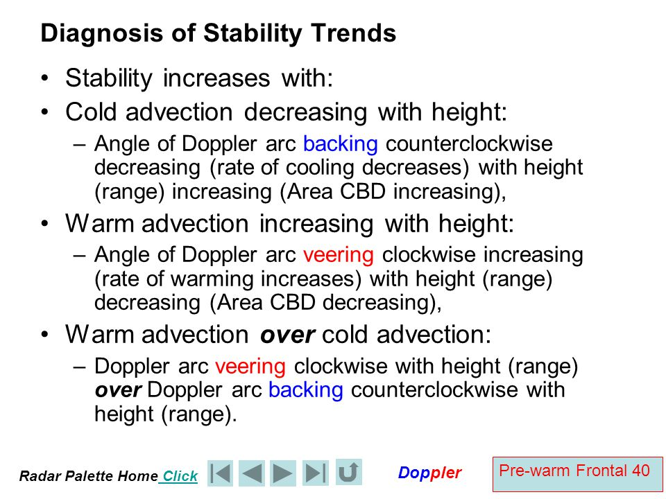Diagnosis of Stability Trends
