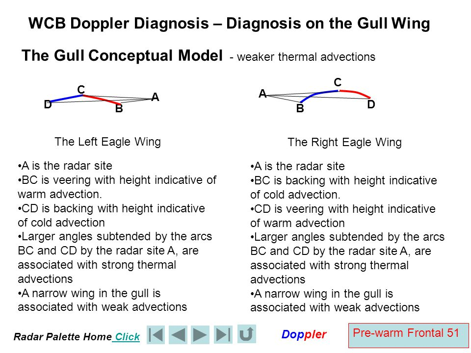 WCB Doppler Diagnosis – Diagnosis on the Gull Wing