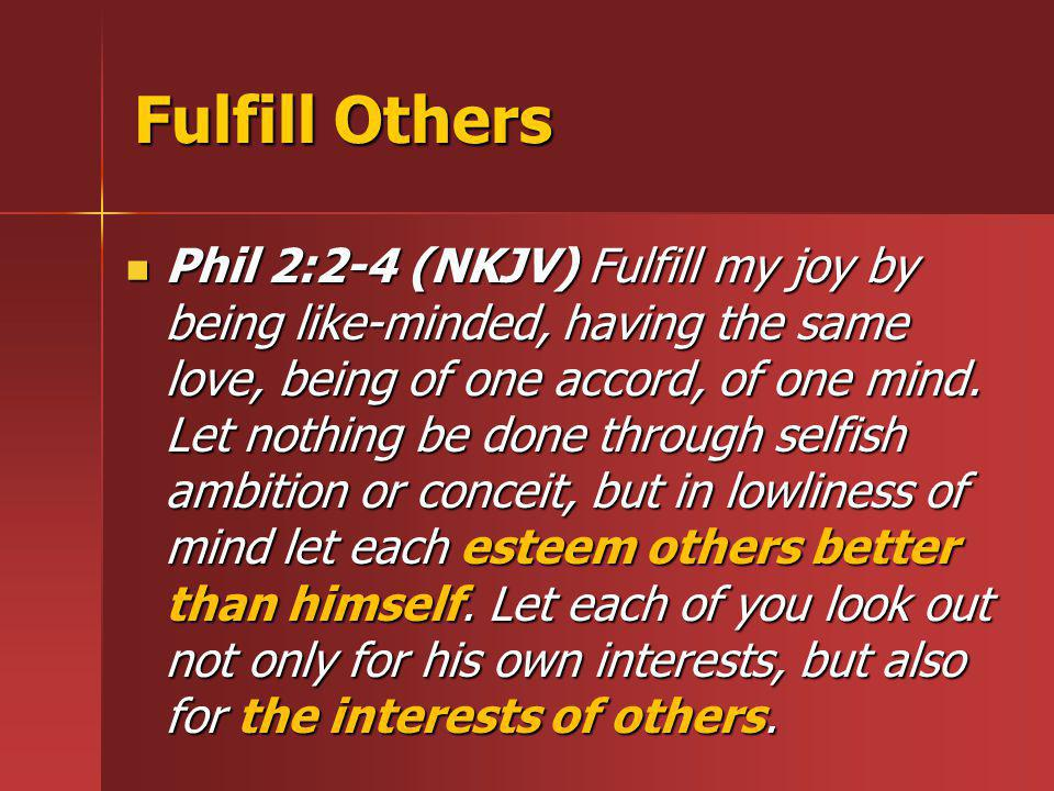 Fulfill Others