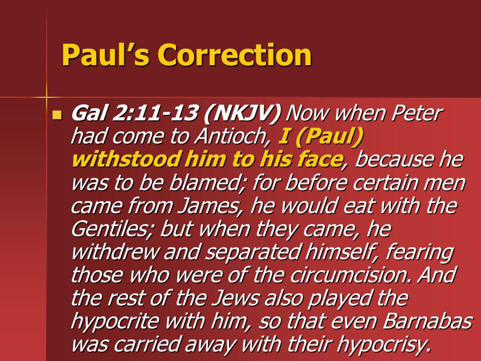 Paul's Correction