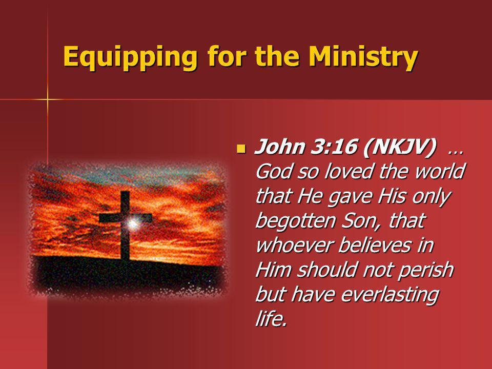 Equipping for the Ministry
