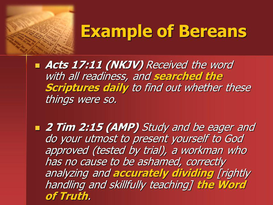 Example of Bereans