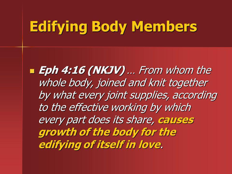 Edifying Body Members