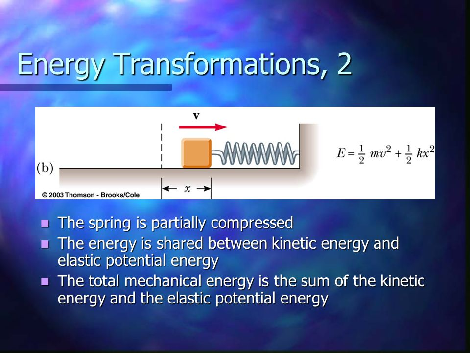 Energy Transformations, 2