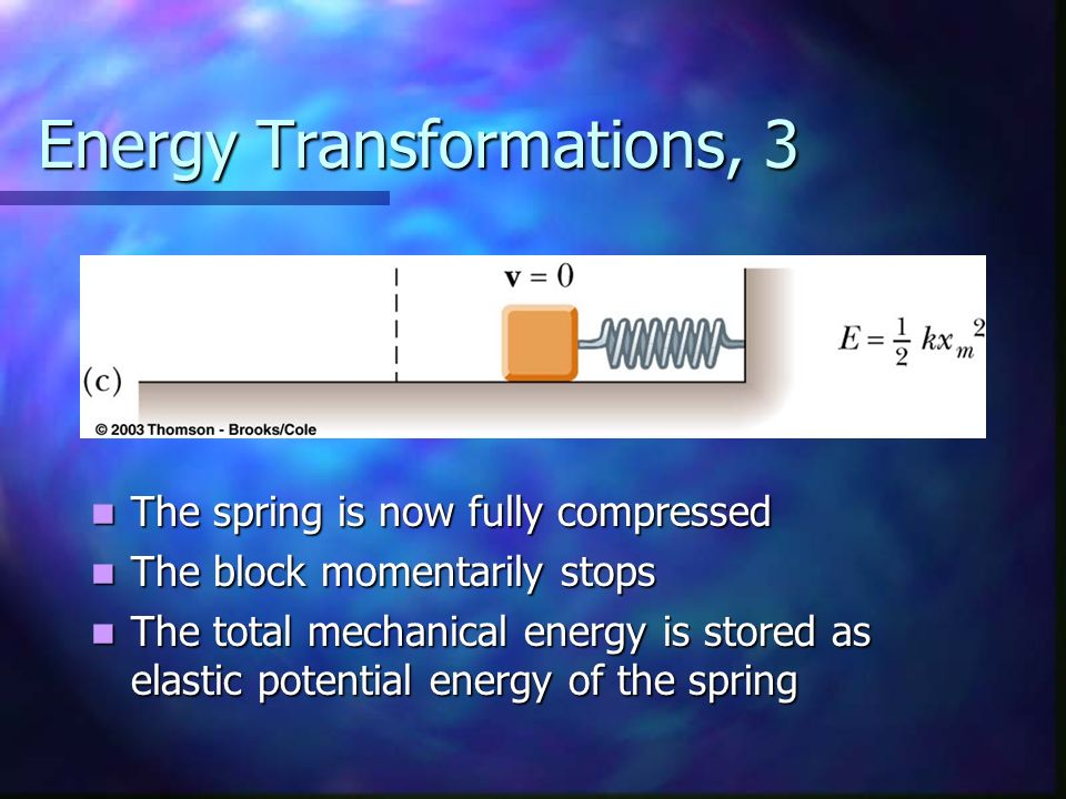 Energy Transformations, 3