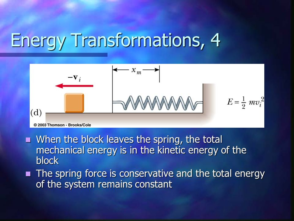 Energy Transformations, 4