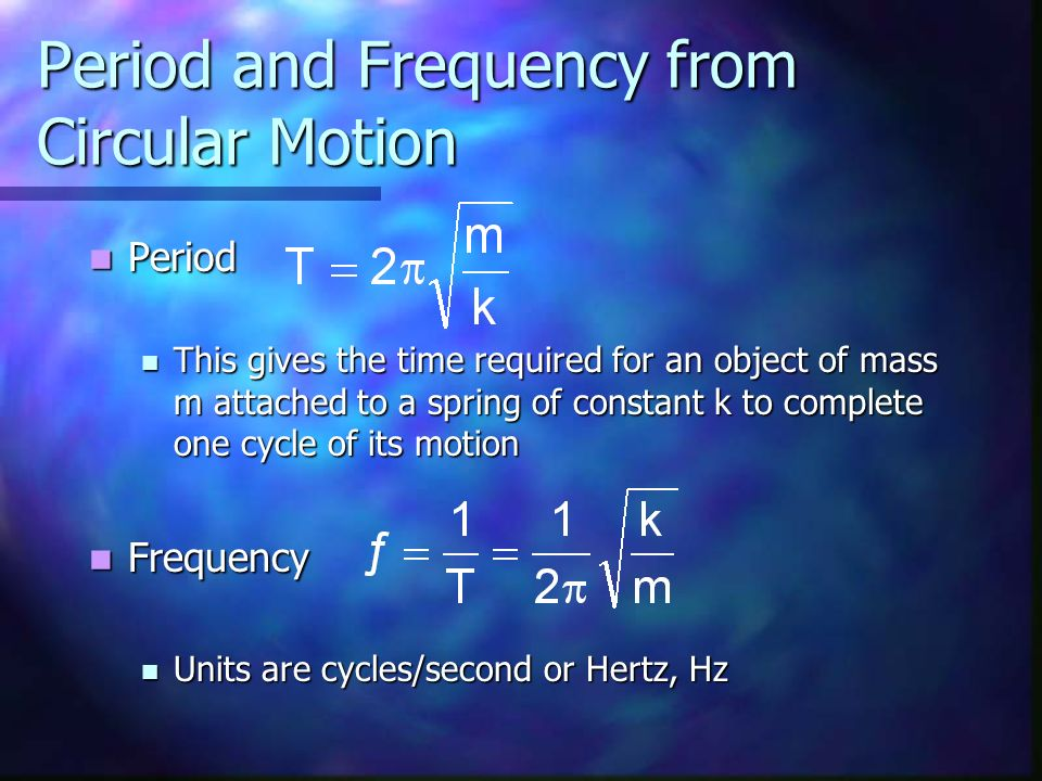 Period and Frequency from Circular Motion