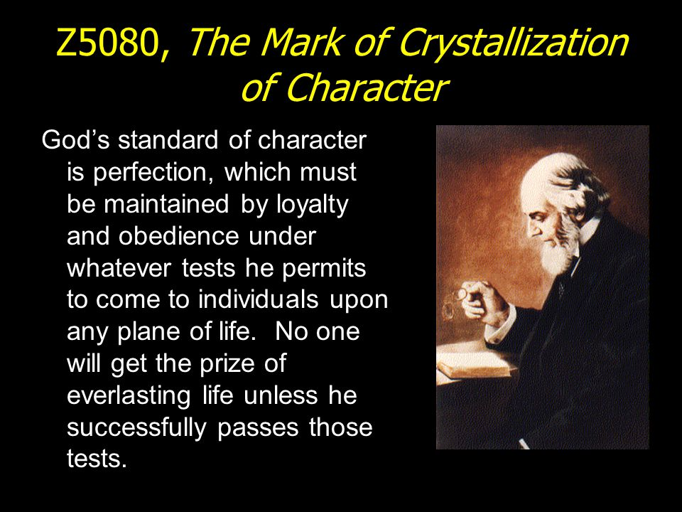 Z5080, The Mark of Crystallization of Character