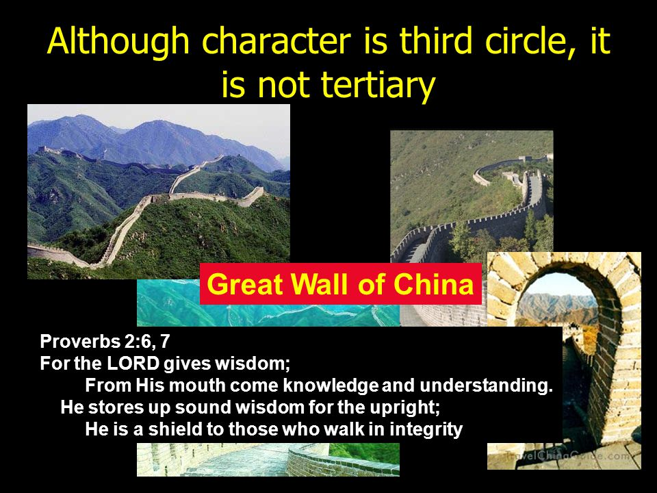 Although character is third circle, it is not tertiary