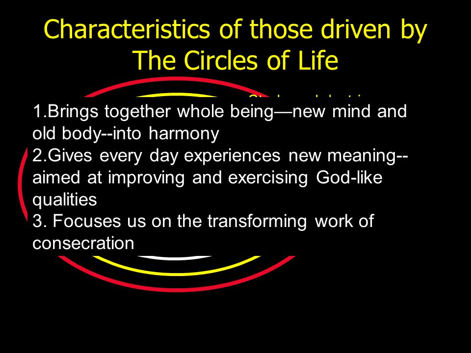 Characteristics of those driven by The Circles of Life