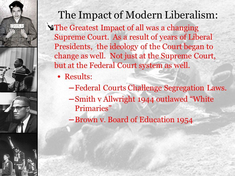The Impact of Modern Liberalism: