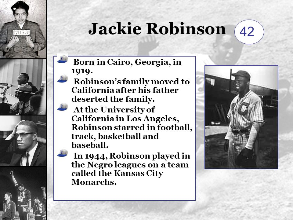 A biography of jackie robinson born in cairo georgia