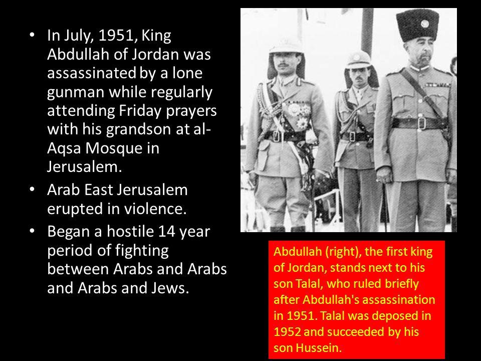 Arab East Jerusalem erupted in violence.