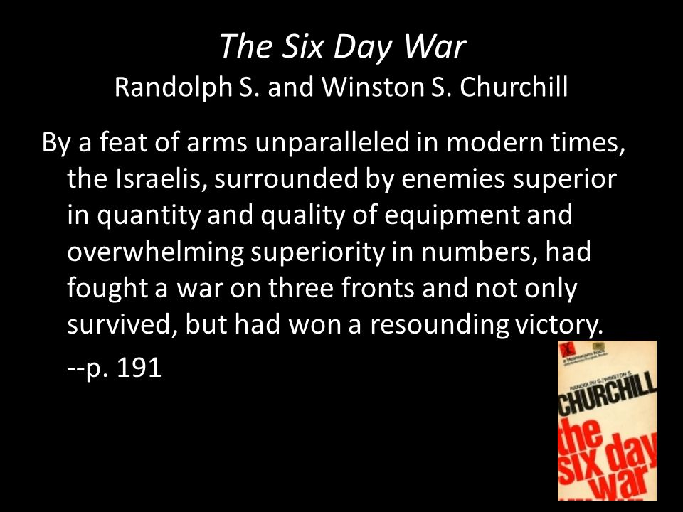 The Six Day War Randolph S. and Winston S. Churchill