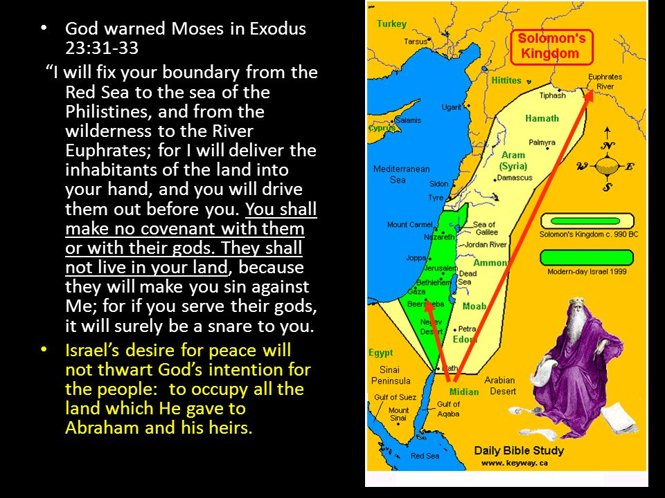 God warned Moses in Exodus 23:31-33