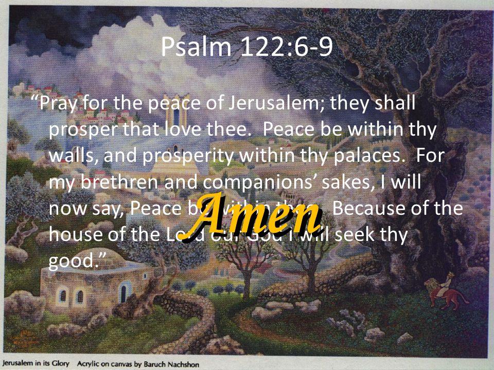 Psalm 122:6-9