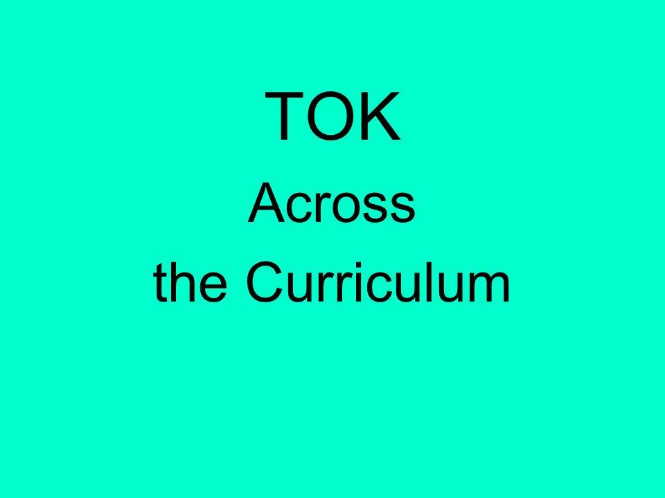 TOK Across the Curriculum
