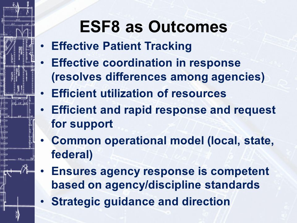 ESF8 as Outcomes Effective Patient Tracking