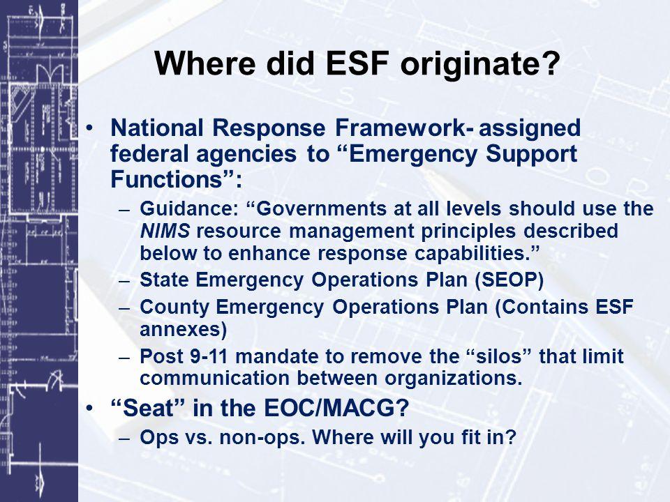 Where did ESF originate