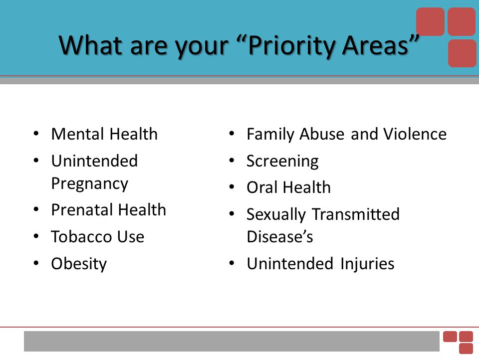 What are your Priority Areas