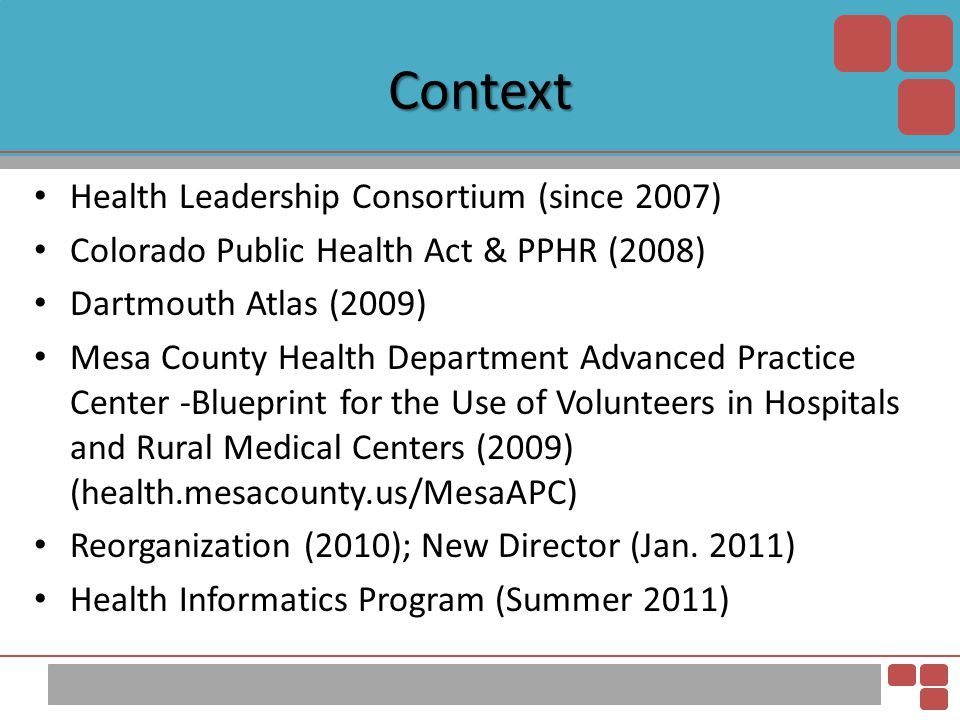 Context Health Leadership Consortium (since 2007)