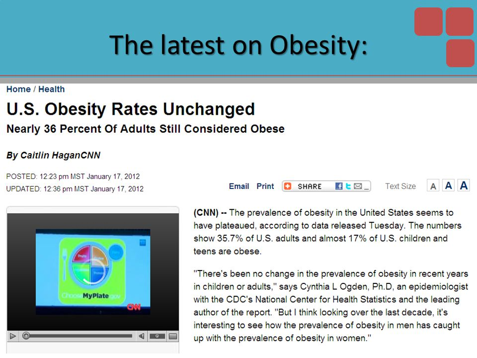 The latest on Obesity: