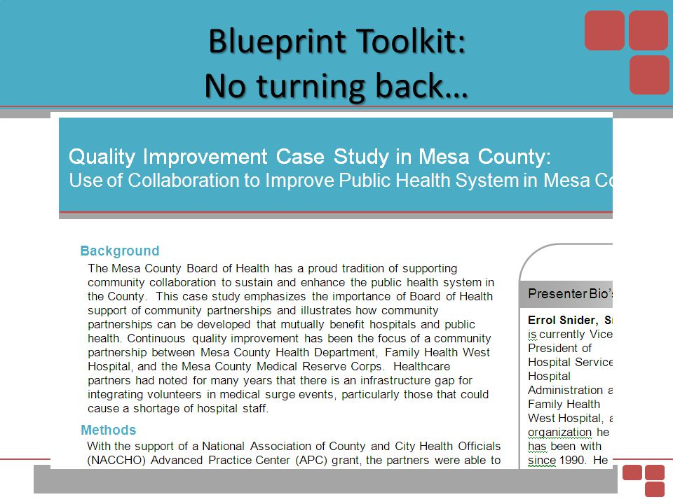 Blueprint Toolkit: No turning back…