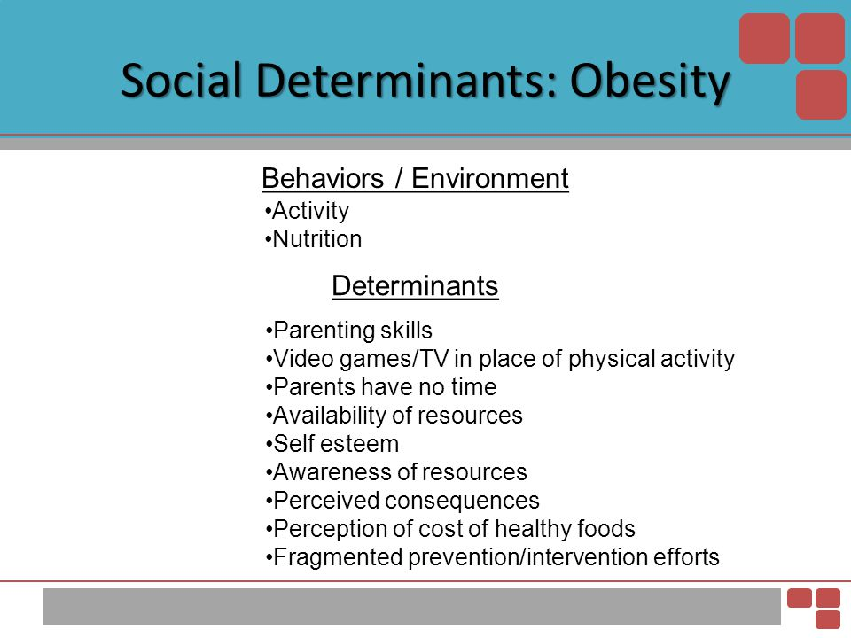Social Determinants: Obesity
