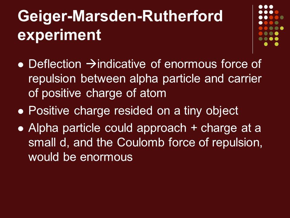 Geiger-Marsden-Rutherford experiment