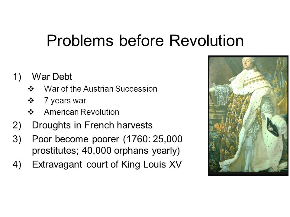 Problems before Revolution